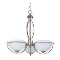 Maxim Lighting Cupola ES 3 Light Single Tier Chandelier in Satin Nickel 85564WTSN photo thumbnail