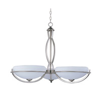 Maxim Lighting Cupola ES 3 Light Single Tier Chandelier in Satin Nickel 85565WTSN