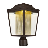 Maxim 85630CLTRAE Villa LED LED 16 inch Adobe Post Lantern in Topaz Ribbed