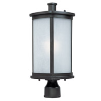 Maxim Lighting Terrace Energy Efficient 1 Light Outdoor Post in Bronze 85750FSBZ