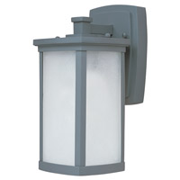 Maxim Lighting Terrace Energy Efficient 1 Light Outdoor Wall Mount in Platinum 85752FSPL