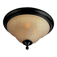 Maxim 85801WSOI Linda Energy Efficient 3 Light 16 inch Oil Rubbed Bronze Flush Mount Ceiling Light