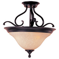 Maxim 85802WSOI Linda Energy Efficient 3 Light 19 inch Oil Rubbed Bronze Semi Flush Mount Ceiling Light