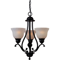 Maxim Lighting Linda Energy Efficient 3 Light Mini Chandelier in Oil Rubbed Bronze 85804WSOI