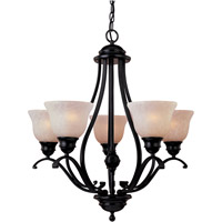 Linda Energy Efficient 5 Light 26 inch Oil Rubbed Bronze Single Tier Chandelier Ceiling Light