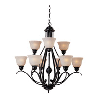 Maxim Lighting Linda Energy Efficient 9 Light Multi-Tier Chandelier in Oil Rubbed Bronze 85806WSOI