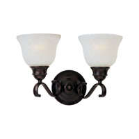 Linda Energy Efficient 2 Light 15 inch Oil Rubbed Bronze Bath Vanity Wall Light in Ice