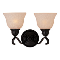 Maxim 85808WSOI Linda Energy Efficient 2 Light 15 inch Oil Rubbed Bronze Bath Light Wall Light in Wilshire