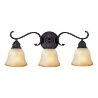 Linda Energy Efficient 3 Light 24 inch Oil Rubbed Bronze Bath Light Wall Light