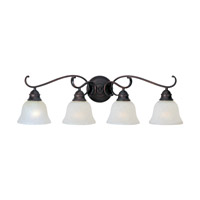 Linda Energy Efficient 4 Light 32 inch Oil Rubbed Bronze Bath Vanity Wall Light in Ice