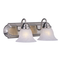 Maxim Lighting Essentials Energy Efficient 2 Light Bath Light in Satin Nickel 85812MRSN