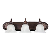 Maxim Lighting Essentials Energy Efficient 3 Light Bath Light in Oil Rubbed Bronze 85813MROI