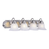 Maxim Lighting Essentials Energy Efficient 4 Light Bath Light in Satin Nickel 85814MRSN