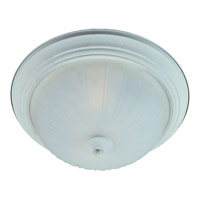 Maxim Lighting Flush Mount Energy Efficient 1 Light Flush Mount in Textured White 85830FTTW