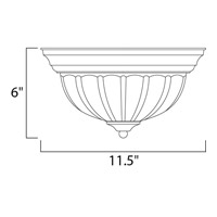 Maxim 85830FTTW Flush Mount Energy Efficient 1 Light 12 inch Textured White Flush Mount Ceiling Light alternative photo thumbnail