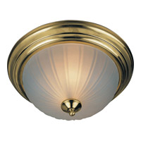 Maxim Lighting Flush Mount Energy Efficient 2 Light Flush Mount in Polished Brass 85831FTPB
