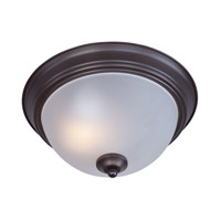 Signature Energy Efficient 1 Light 12 inch Oil Rubbed Bronze Flush Mount Ceiling Light in Frosted