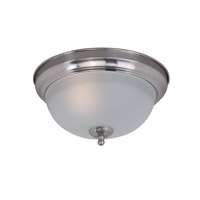 Signature 1 Light 12 inch Satin Nickel Flush Mount Ceiling Light in Frosted