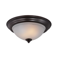 Signature Energy Efficient 2 Light 14 inch Oil Rubbed Bronze Flush Mount Ceiling Light in Frosted