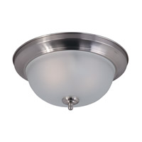Signature 2 Light 14 inch Satin Nickel Flush Mount Ceiling Light in Frosted