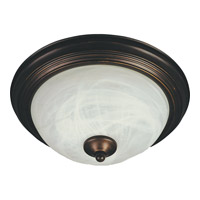 Maxim 85841MROI Flush Mount Energy Efficient 2 Light 14 inch Oil Rubbed Bronze Flush Mount Ceiling Light in Marble