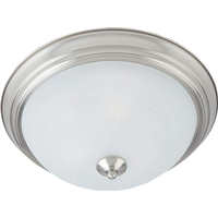 Maxim 85841MRWT Flush Mount EE 2 Light 14 inch White Flush Mount Ceiling Light