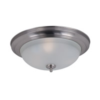 Signature 3 Light 16 inch Satin Nickel Flush Mount Ceiling Light in Frosted