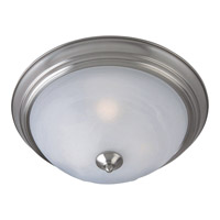 Maxim 85842MRSN Flush Mount Energy Efficient 3 Light 16 inch Satin Nickel Flush Mount Ceiling Light in Marble