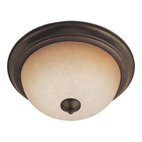 Maxim Lighting Flush Mount Energy Efficient 3 Light Flush Mount in Oil Rubbed Bronze 85842WSOI