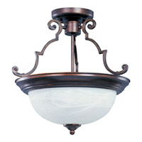 Maxim Lighting Essentials Energy Efficient 2 Light Semi Flush Mount (Chain not Included) in Oil Rubbed Bronze 85843MROI