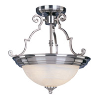 Maxim Lighting Essentials Energy Efficient 2 Light Semi Flush Mount in Satin Nickel 85843MRSN