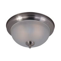Maxim 85849FTSN Signature 2 Light 12 inch Satin Nickel Flush Mount Ceiling Light in Frosted Frosted Glass