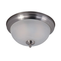 Maxim 85849MRSN Signature 2 Light 12 inch Satin Nickel Flush Mount Ceiling Light in Marble Glass