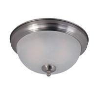 Maxim 85849MRSN Flush Mount EE 2 Light 12 inch Satin Nickel Flush Mount Ceiling Light in Marble Glass