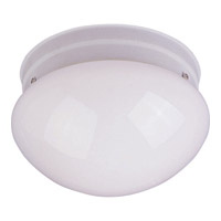 Maxim Lighting Utility Energy Efficient 2 Light Flush Mount in White 85881WTWT