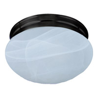 Maxim Lighting Essentials Energy Efficient 2 Light Flush Mount in Oil Rubbed Bronze 85885MROI