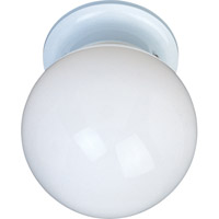 Maxim Lighting Utility EE 1 Light Flush Mount in White 85889WTWT