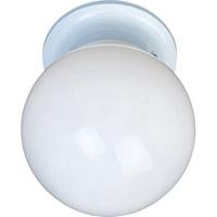 Maxim 85889WTWT Utility Energy Efficient 1 Light 6 inch White Flush Mount Ceiling Light