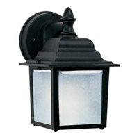 Maxim Lighting Side Door Energy Efficient 1 Light Outdoor Wall Mount in Black 85924BK