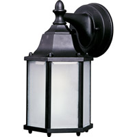 Maxim Lighting Side Door Energy Efficient 1 Light Outdoor Wall Mount in Black 85926BK