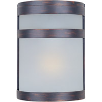 Maxim Lighting Arc Energy Efficient 1 Light Outdoor Wall Mount in Oil Rubbed Bronze 86005FTOI