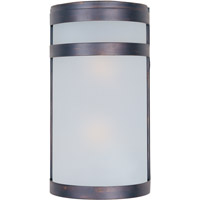 Maxim Lighting Arc Energy Efficient 2 Light Outdoor Wall Mount in Oil Rubbed Bronze 86006FTOI