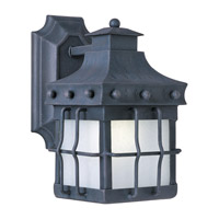 Nantucket Energy Efficient 1 Light 11 inch Country Forge Outdoor Wall Mount