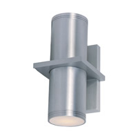 Maxim 86117AL Lightray 2 Light 6 inch Brushed Aluminum Wall Sconce Wall Light
