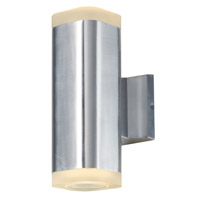 Maxim 86135AL Lightray LED LED 10 inch Brushed Aluminum Outdoor Wall Sconce