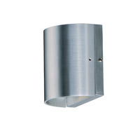 Maxim 86156AL Lightray LED 5 inch Brushed Aluminum Outdoor Wall Sconce