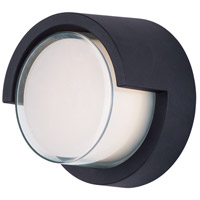 Eyebrow LED 7 inch Black Outdoor Wall Mount