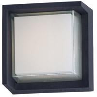 Maxim 86163BK Eyebrow LED 6 inch Black Outdoor Wall Mount