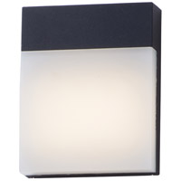 Eyebrow LED 8 inch Black Outdoor Wall Mount