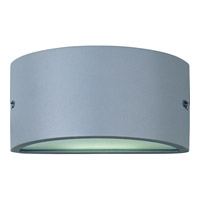 Zenith Energy Efficient 1 Light 5 inch Platinum Outdoor Wall Mount